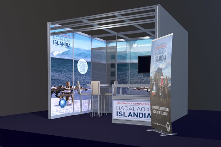 portfolio eventos producción de eventos bacalao islandia stand modular 3d