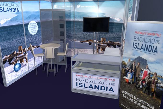 portfolio eventos producción de eventos bacalao islandia stand modular 3d detalle