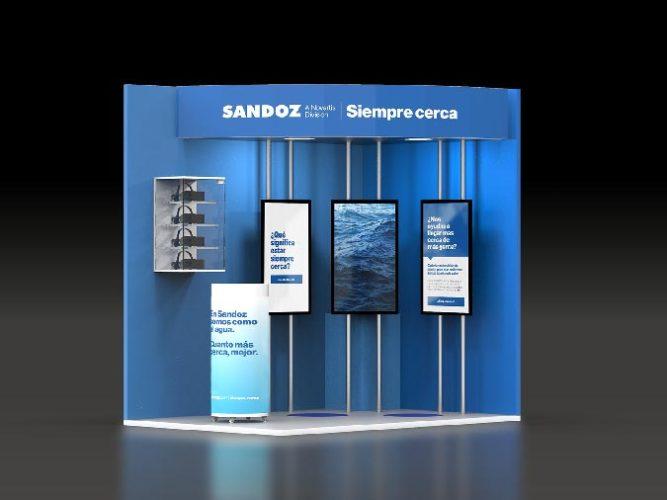 sandoz stand congreso semergen 2020 3d frontal