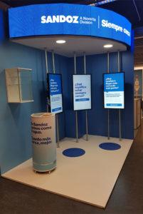 sandoz stand congreso semergen 2020 pantallas 201x300 - Diseños De Stands Modernos