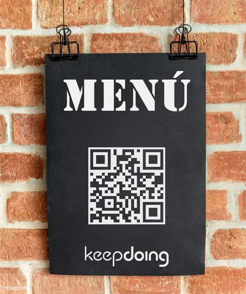 poster menu - QR Cartas. Tu nuevo soporte online.