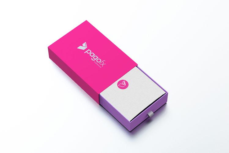 impresión packaging pagofx 3d abierta real