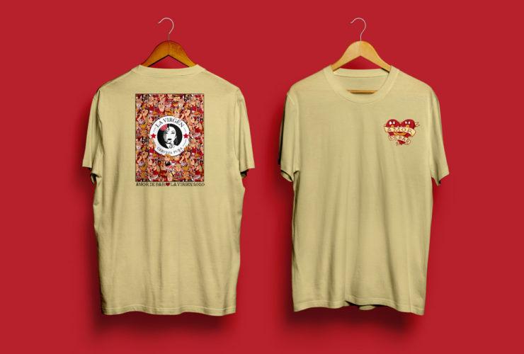 portfolio impresión amor bar camiseta beige