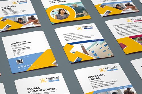 servicios maquetacion diseno grafico comillas folletos - Maquetación de diseño gráfico