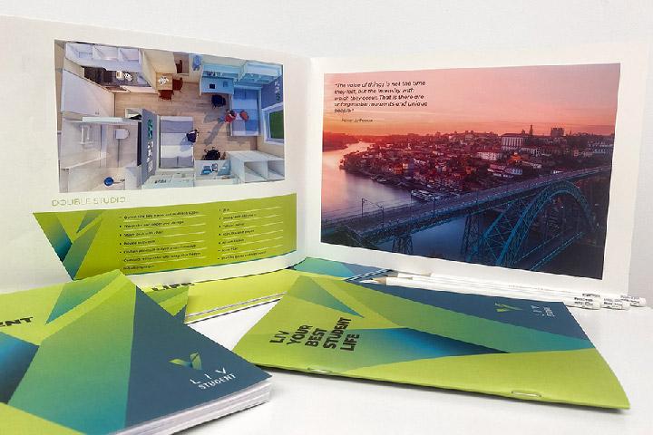 portfolio diseño gráfica liv folleto cuaderno