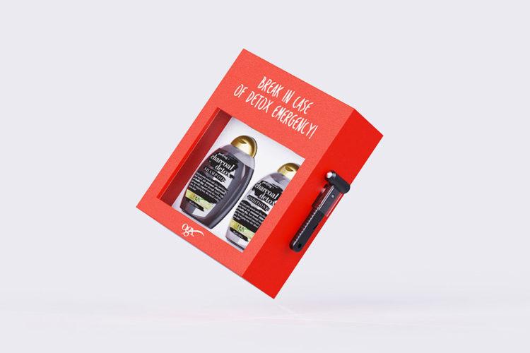 portfolio impresión packaging creativo ogx 3d vuelo