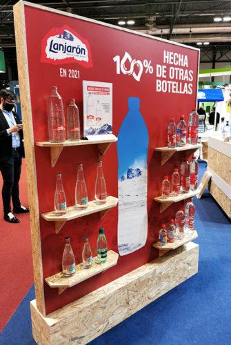 portfolio eventos stand danone hip 2021 lanjarón botellas