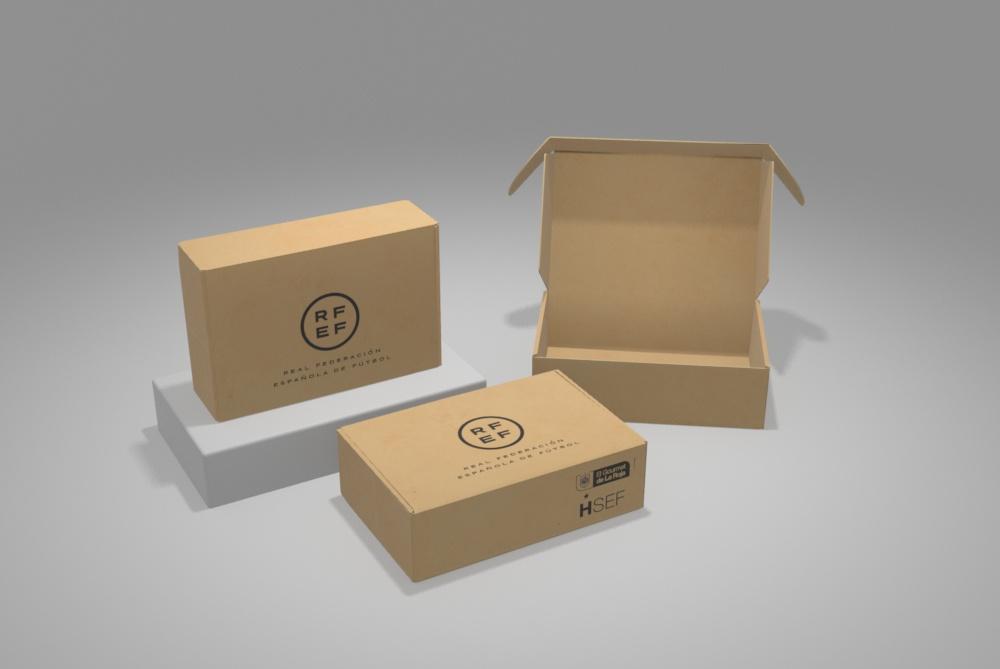 packaging real ferderacion espanola de futbol - Cajas personalizadas para ecommerce