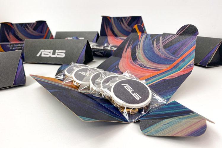 portfolio diseño impresión packaging hotwire presentación asus galleta
