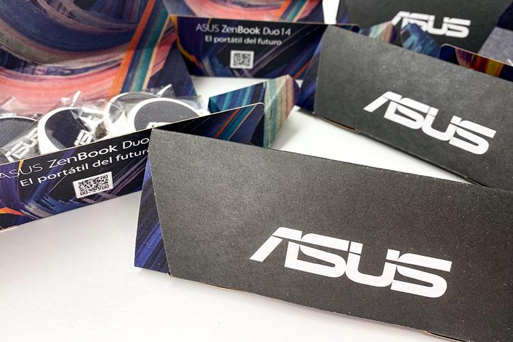 portfolio diseño impresión packaging hotwire presentación asus picado