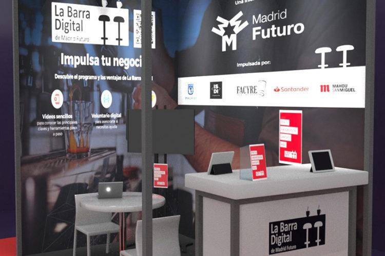 portfolio eventos producción eventos aplus barra digital stand modular hip 21 3d detalle
