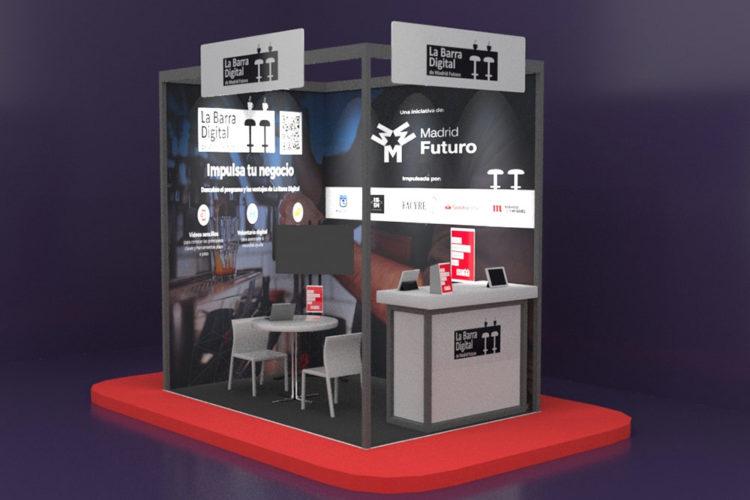 portfolio eventos producción eventos aplus barra digital stand modular hip 21 3d diagonal
