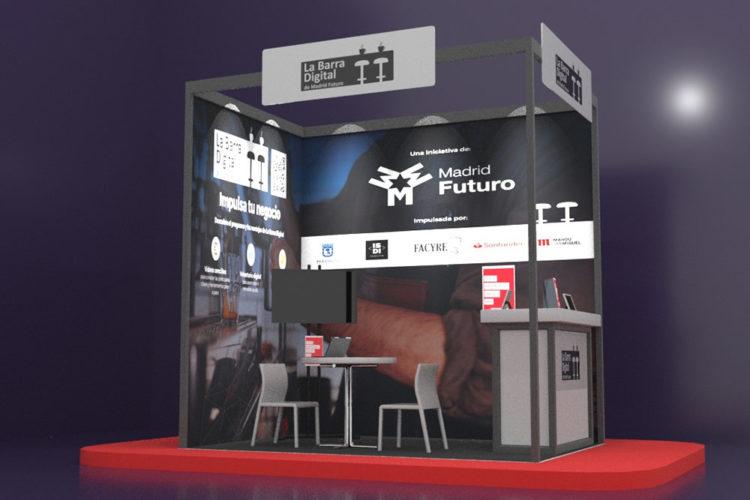 portfolio eventos producción eventos aplus barra digital stand modular hip 21 3d frente