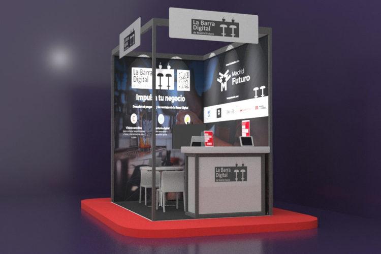 portfolio eventos producción eventos aplus barra digital stand modular hip 21 3d lateral