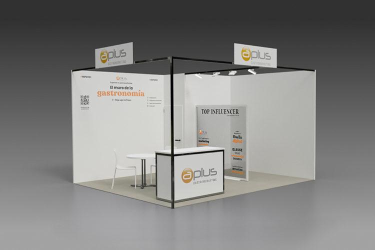 portfolio eventos stand modular hip 2021 aplus 3d diagonal