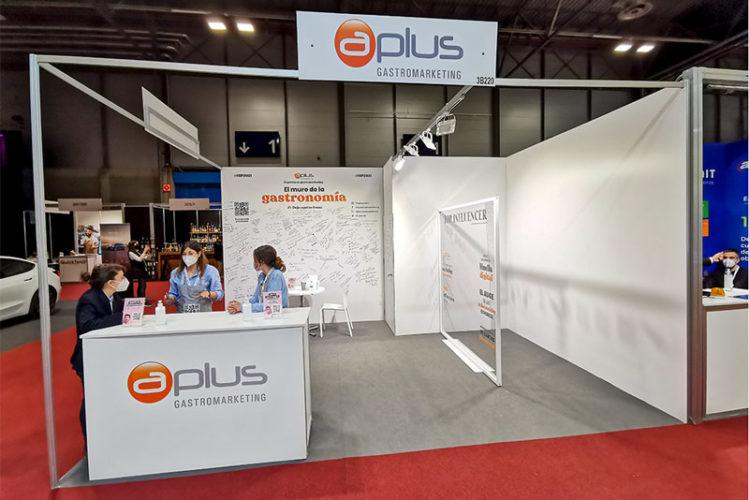 portfolio eventos stand modular hip 2021 aplus frente