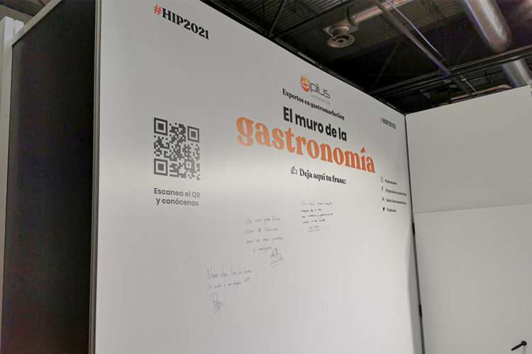 portfolio eventos stand modular hip 2021 aplus muro