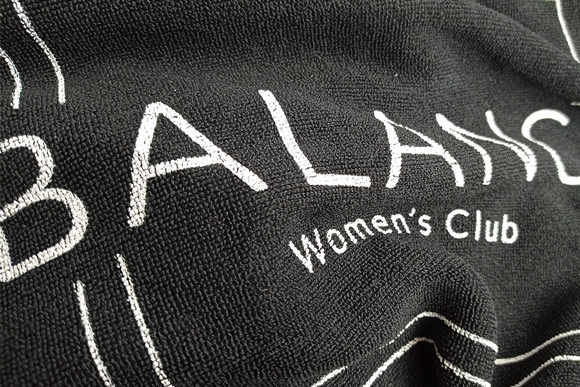 portfolio impresión merchandising balance womens club material deportivo toalla