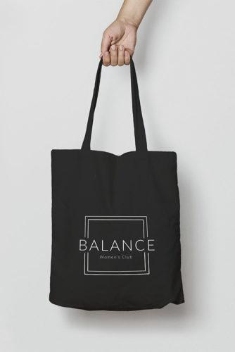 portfolio impresión merchandising balance womens club material deportivo totebag