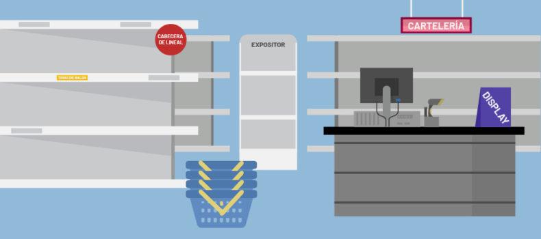servicios expositores PLV cabecera tienda tipos PLV